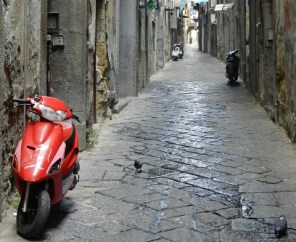 Photo by Margie Miklas Red Vespa